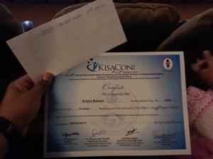 Dr. Antara's Certificate