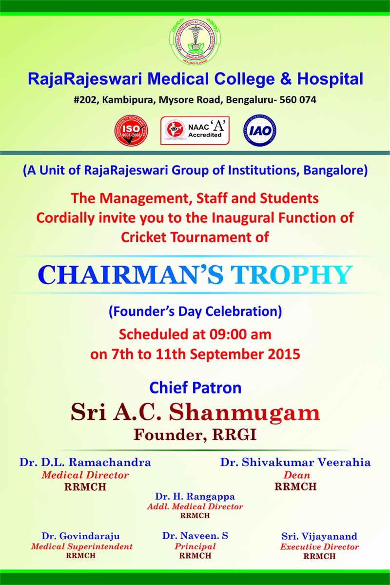 chairman trophy 2015